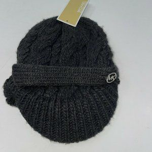 Michael Kors Womens Black Peaked Hat Size One Size